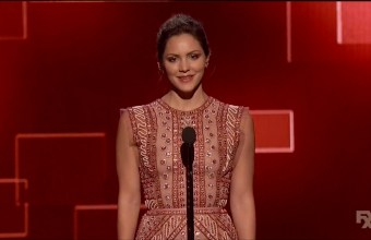 Video- Katharine McPhee presents at the 2015 Creative Arts Emmy Awards