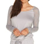 Sleep LS Top, Dove Grey