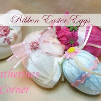 Craft Project Easter Ribbon Eggs