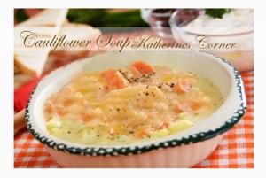 Meatless Monday Cauliflower Soup