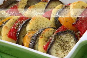 Baked Eggplant and Peppers