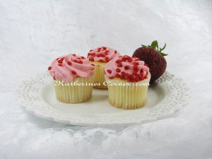 Wordless Wednesday Strawberry Fairy Cakes