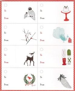 Wordless Wednesday Christmas Printable Tags