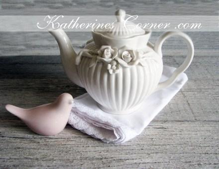 pretty white teapot katherines corner