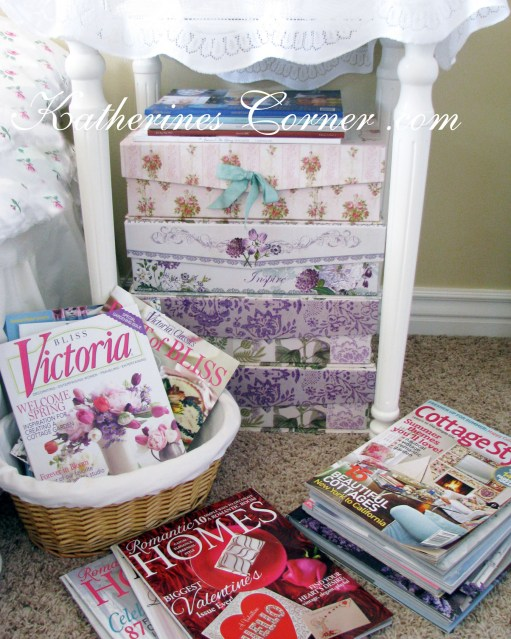 pretty boxes for magazines katherines corner