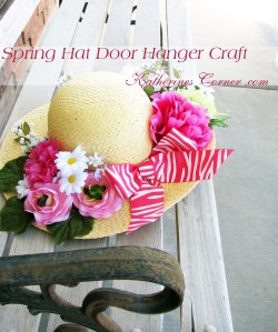 Spring Hat Door Hanger