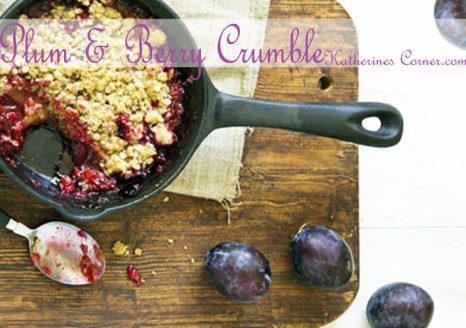 plum and berry crumble recipe
