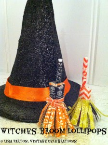 witches broom lollipops
