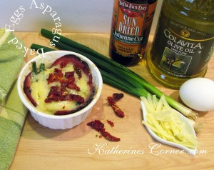 Baked Eggs Asparagus With Sun Dried Tomatoes