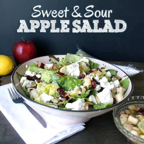 sweet and sour apple salad