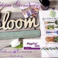 Bloom Giveaway