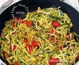 Herb Zucchini Tomatoes and Leeks