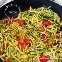 Herb Zucchini Tomatoes and Leeks