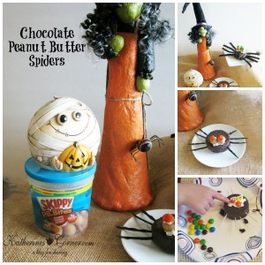 Chocolate and Peanut Butter Spiders