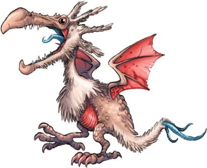 Monster dragon bird