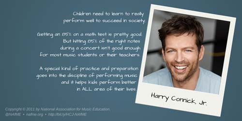 Harry Connick Jr NAfME 85 graphic