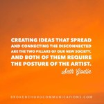 ideas that pread artist seth godin bcc