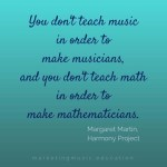 margaret martin dont teach music musicians mme