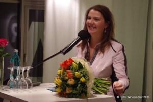Birgit Kelle bedankt sich für den Dr. Jörg Mutschler- Preis