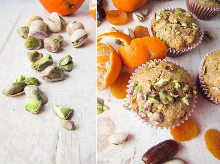 Healthy Orange-Date-Apricot Muffins
