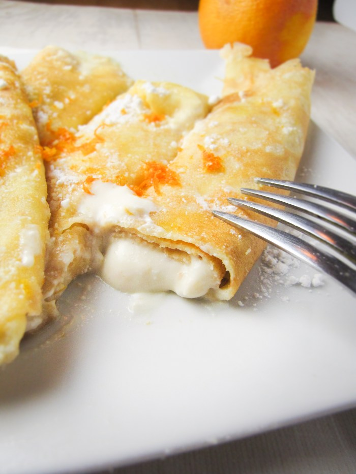 Ricotta and Orange Crespelle {Katie at the Kitchen Door}