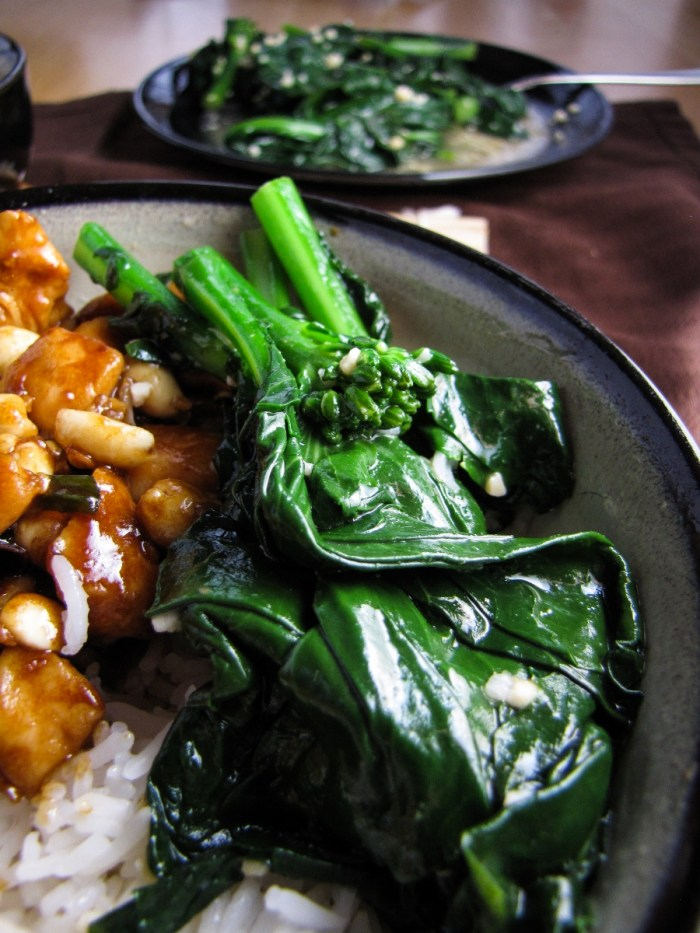 Chinese Broccoli in Ginger Sauce {Katie at the Kitchen Door}