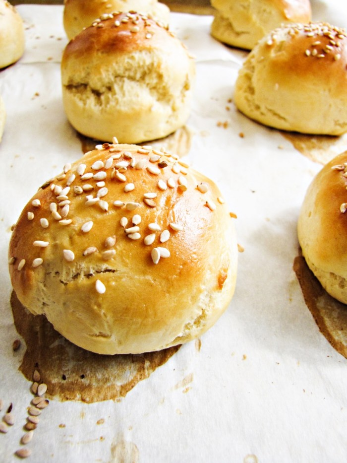 Homemade Slider Buns {Katie at the Kitchen Door}
