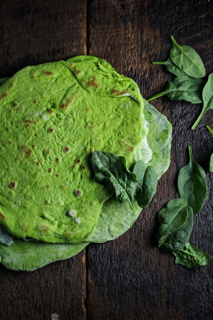 Homemade Spinach Wraps {Katie at the Kitchen Door}