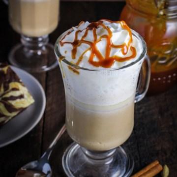 Salted Caramel Chai Lattte {Katie at the Kitchen Door}