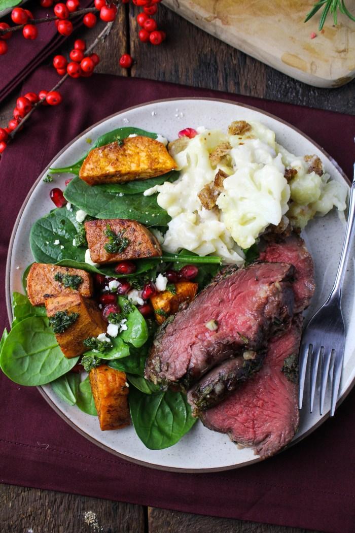 Sunday Dinner // Herb-Crusted Roast Beef, Roasted Root Vegetable Salad ...