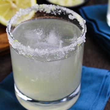 Sparkling Lemongrass-Ginger Margarita {Katie at the Kitchen Door} #MargaritaWeek