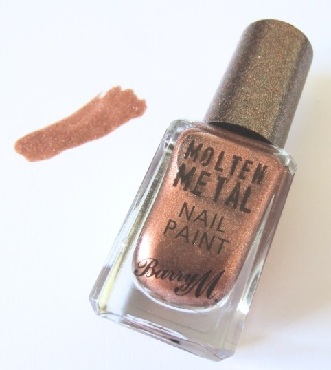 Barry M Copper Mine Molten Metal Nail Paint Review and Swatches