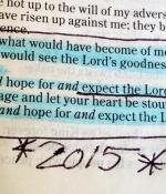 year in review bible verse
