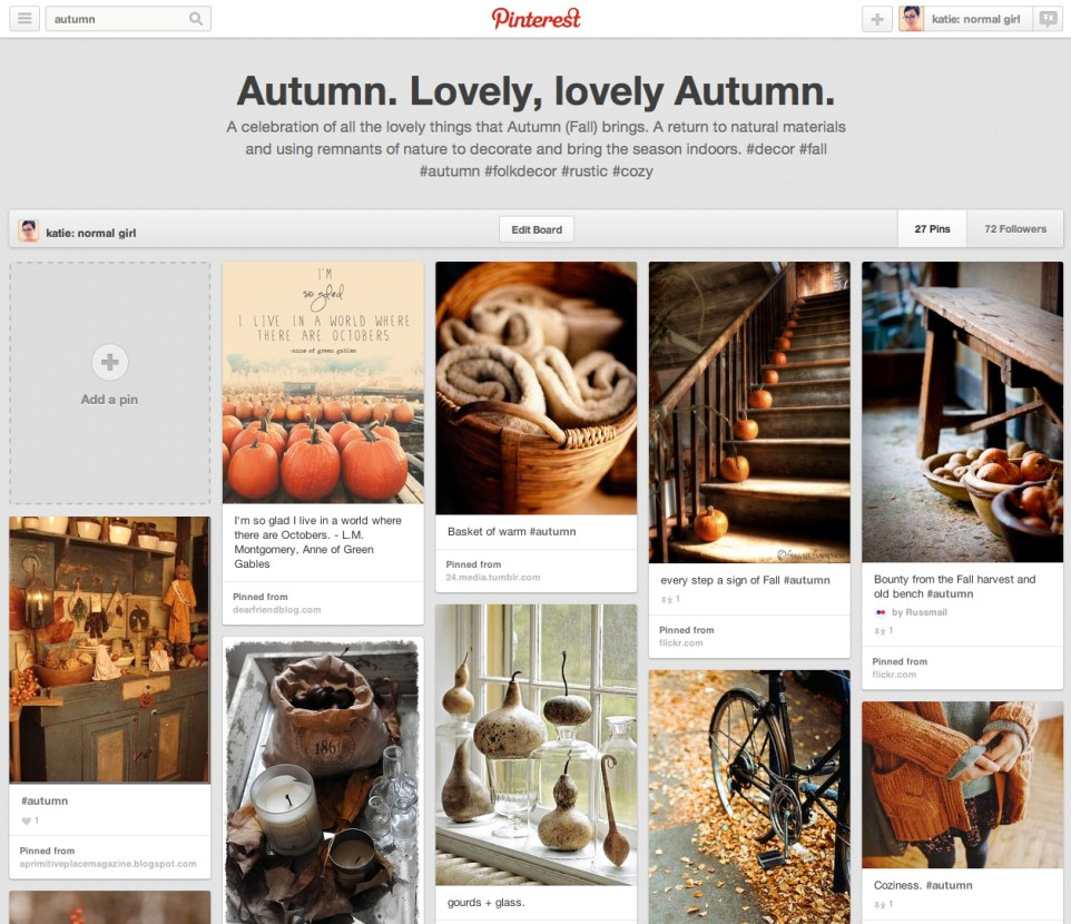 Autumn pinterest board from katienormalgirl.com #autumn #fall #seasons