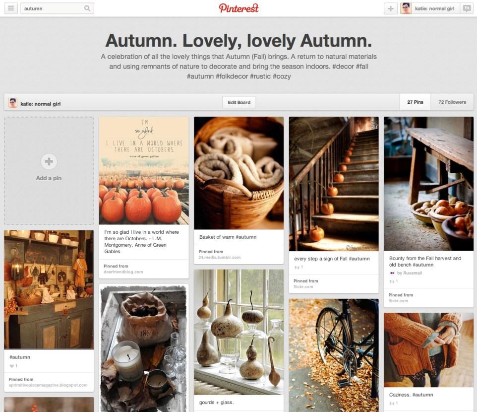 Autumn pinterest board from katienormalgirl.com #autumn #fall #seasons