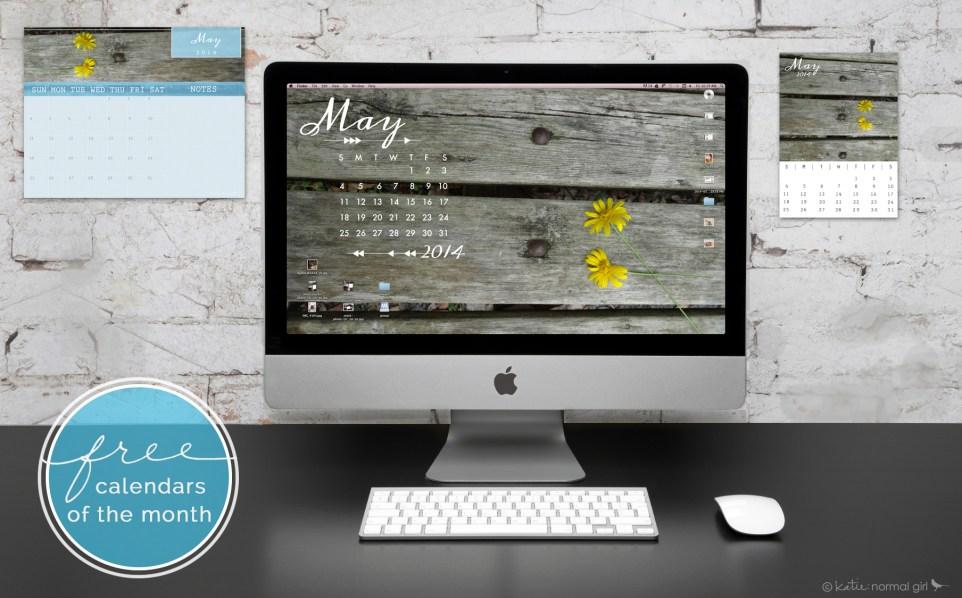 Download Gallery - Freebie May calendars and wallpaper from katienormalgirl.com | #free #downloads #calendars #wallpaper