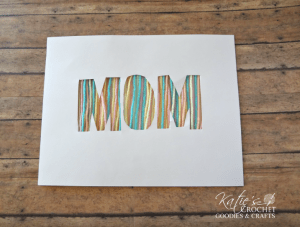 Mother's Day Silhouette Yarn Gift Craft