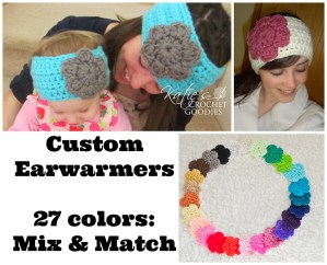 Custom Crochet Earwarmers – Mix & Match