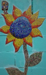 Sunflower, mosaic, mosaics, collaborative work, working together