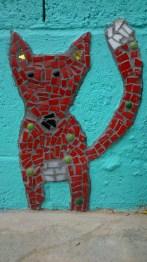 Fox, mosaic, kids art, workshops, mosaic for kids