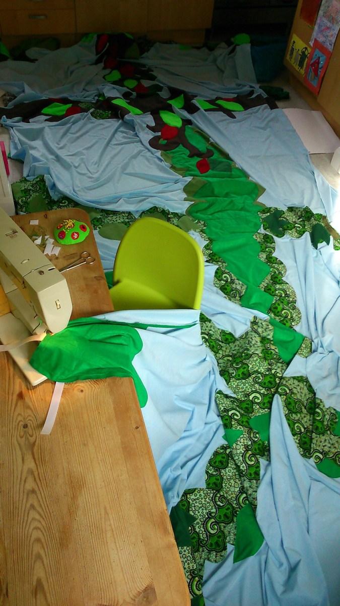 sky, sewing, puppet set, fabrics