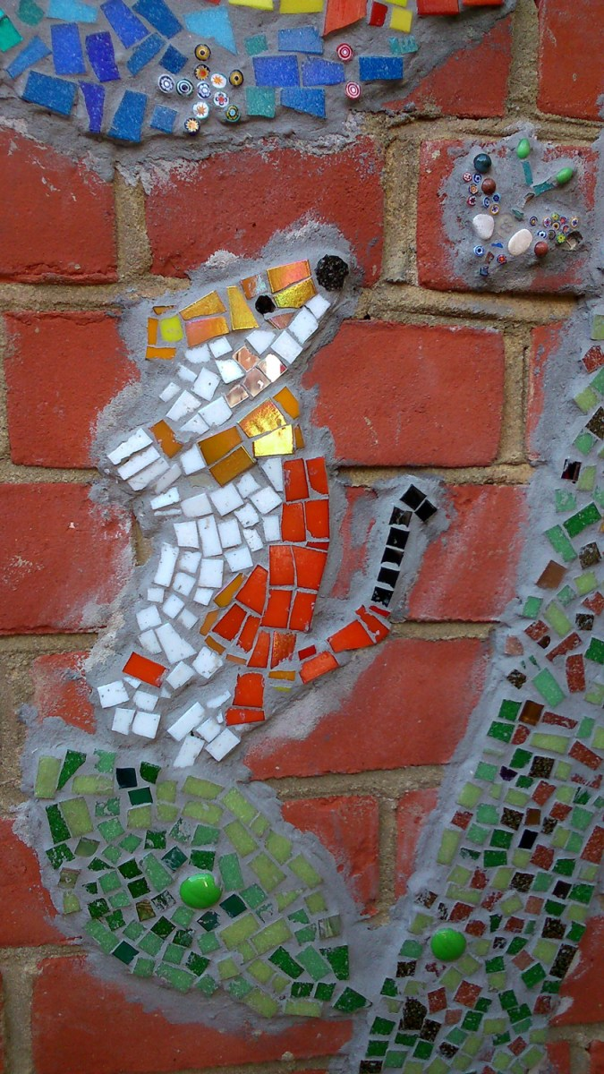 mosaics, mosaic, stoat, kids workshops, school workshop