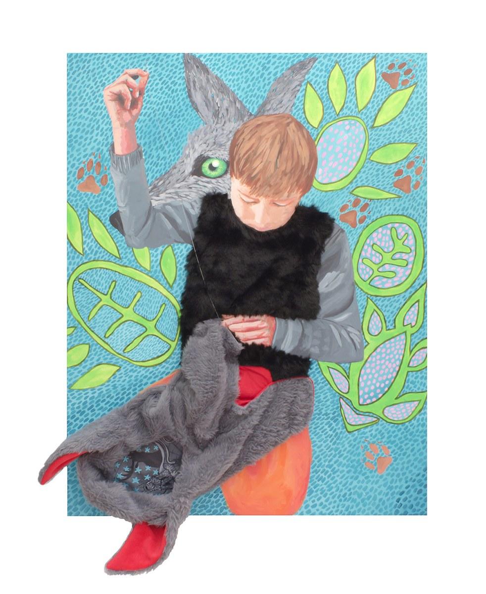 portraits of children, portraits, wolf boy