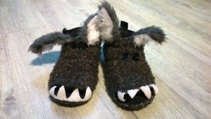 Slippers that didn't fit any more.