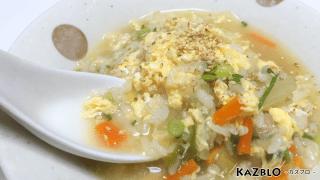 簡単なのに温か美味しい!生姜のふわふわ卵雑炊レシピ・作り方