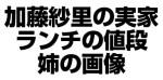 加藤紗里の実家ミディアムのランチの値段を調査!姉画像あり