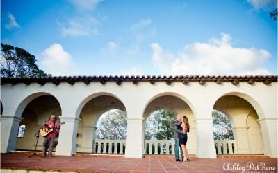 Surprise Wedding Proposal at Serra Museum