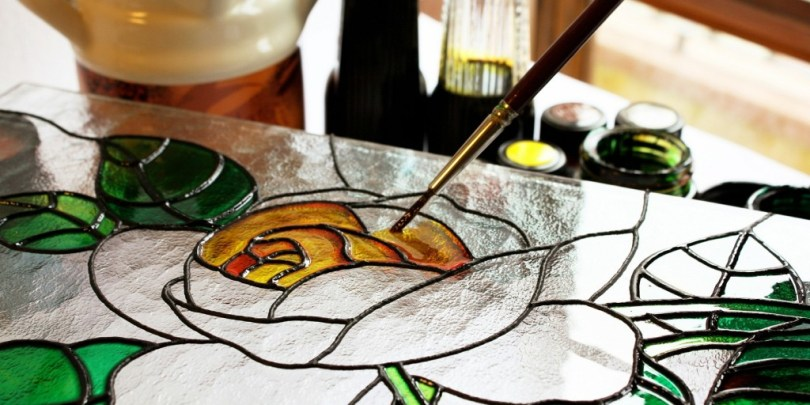 drawing on glass