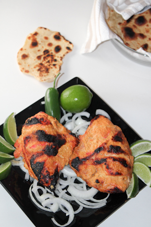 Tandoori Chicken and Naan made at home without a Tandoori Oven