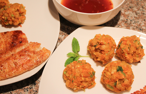 Thai Style Sweet Potato Corn Fritters